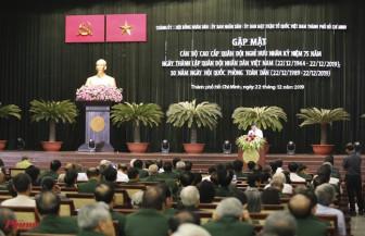 Lãnh đạo TPHCM gặp gỡ cán bộ lão thành cách mạng nhân ngày 22/12