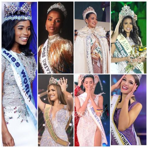 Nhan sắc 7 tân hoa hậu của thế giới năm 2019