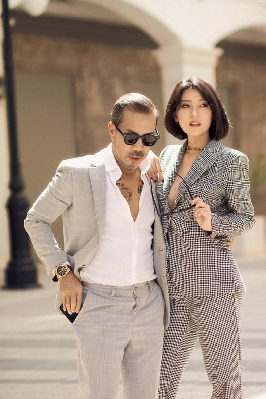Hoa hau Kim Ngan khoe gu thoi trang 'chat' cung Fashionista Thuan Nguyen