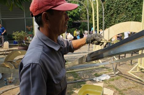 Linh vật đường hoa Nguyễn Huệ Tết Canh Tý đã thành hình