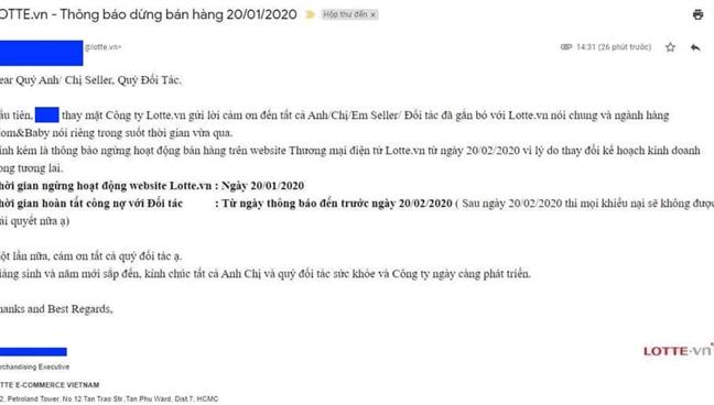 Lotte.vn ngung hoat dong tu ngay 20/1/2020