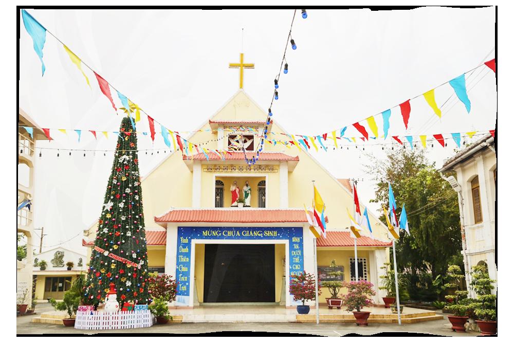 Nhà thờ Thủ Thiêm - một công trình vừa được UBND TP.HCM quyết định xếp hạng di tích cấp thành phố (Ảnh: Thành Lâm)