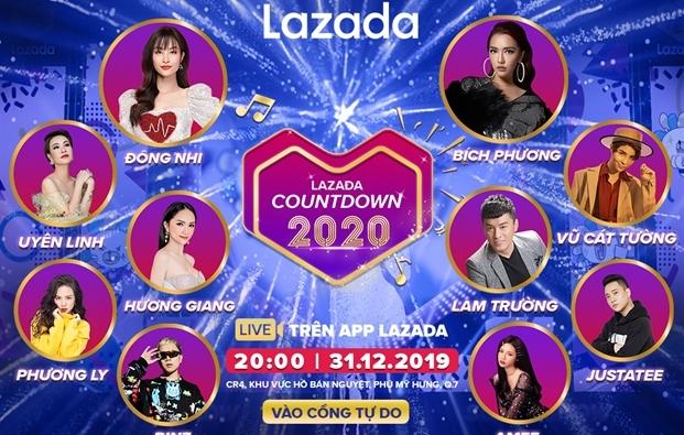 Dai nhac hoi Lazada Countdown 2020 - Su kien khong the bo lo dip tet Duong lich