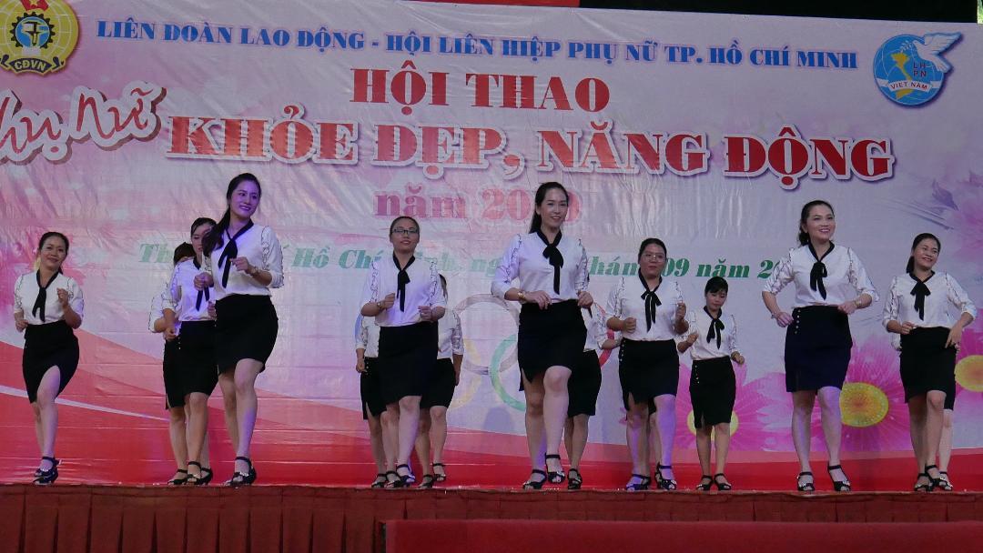 Hội thao phụ nữ khỏe đẹp - năng động do Hội LHPN TP.HCM tổ chức