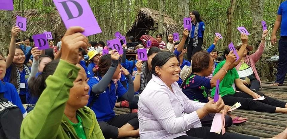 Phụ nữ huyện Cần Giờ thi tìm hiểu về bảo vệ rừng và phòng chống biến đổi khí hậu