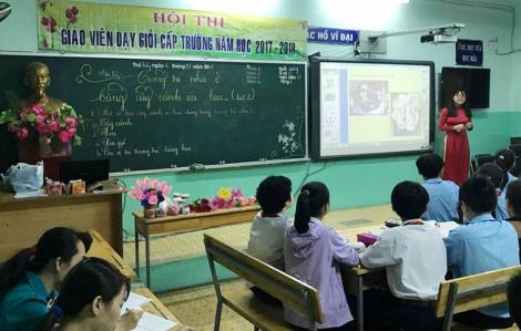 Từ 12/2, thi giáo viên giỏi sẽ dựa trên sự tự nguyện, không áp lực