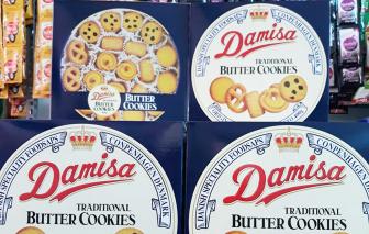 Bánh kẹo nhái thương hiệu ngoại chen vào giỏ quà tết