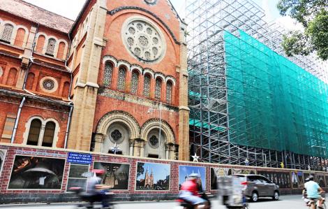 """Đại diện Tổng giáo phận TP.HCM: """"Đơn vị trùng tu nhà thờ Đức Bà cũng đang trùng tu nhà thờ 850 tuổi ở Bỉ"""""""