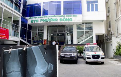 Bệnh nhân đột ngột tử vong khi điều trị gãy xương bánh chè