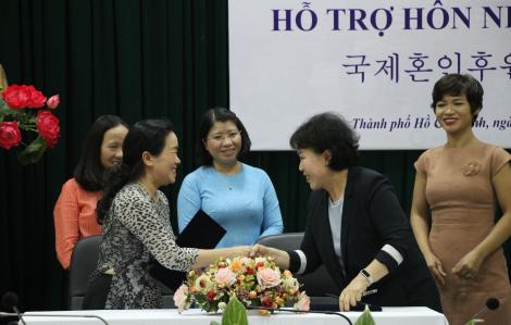 Hợp tác hỗ trợ cô dâu Việt kết hôn tại Hàn Quốc