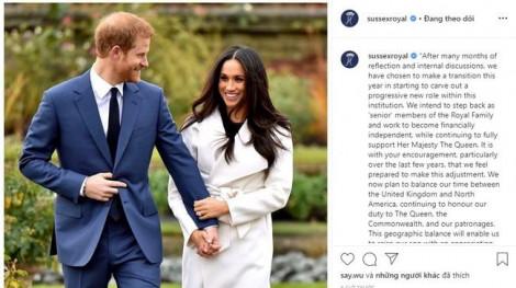 Vợ chồng hoàng tử Harry rút khỏi Hoàng gia: Từ bỏ tất cả để bảo vệ hạnh phúc