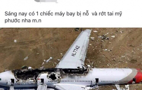 Tung tin đồn máy bay rơi ở Bình Dương, cô gái bị phạt 12 triệu đồng