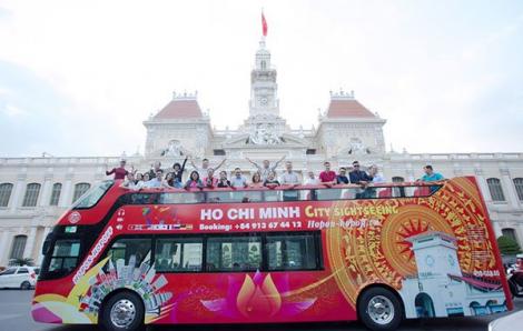 Xe buýt 2 tầng tại TPHCM chưa chạy đã có khách từ 60 nước đặt tour