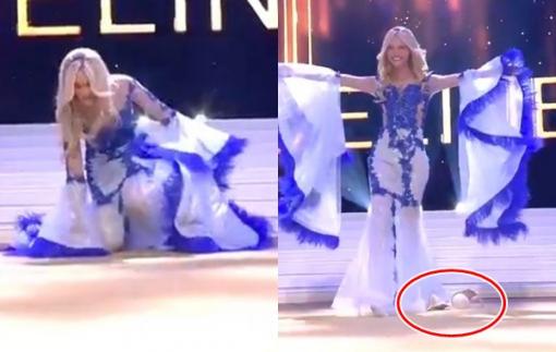 Hoa hậu Bỉ 2020 'vồ ếch' trên sân khấu, biến 'đau thương' thành 'sức mạnh'