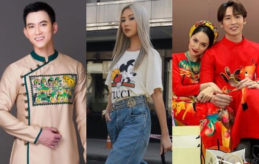 Sao Việt mặc áo dài 'Đám cưới chuột', lăng xê họa tiết chuột Mickey
