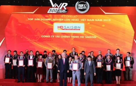 Công ty tài chính HD SAISON 5 lần lọt Top 500 doanh nghiệp lớn nhất Việt Nam, tăng vốn điều lệ lên 2.000 tỷ đồng