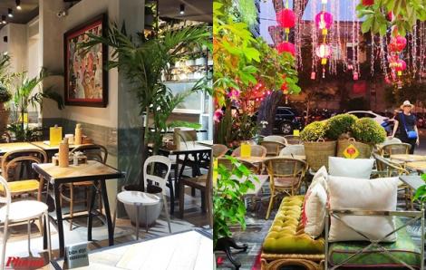 Quán ăn đường phố Sài Gòn không gian xanh mát rượi ngày cuối năm