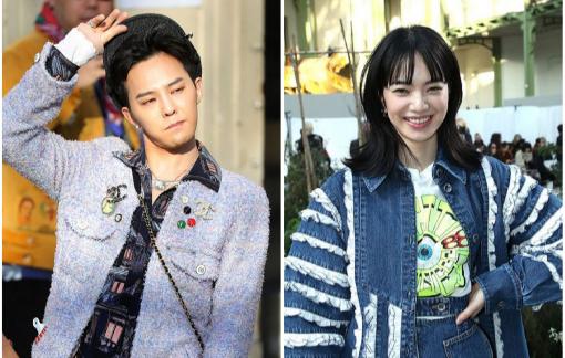G-Dragon diện áo nữ cùng bạn gái tin đồn dự show thời trang
