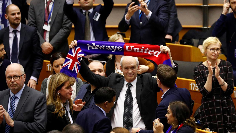 Các thành viên Nghị viện châu Âu của Anh phản ứng sau cuộc bỏ phiếu về Thỏa thuận rút lui tại Brussels, Bỉ ngày 29/1/2020