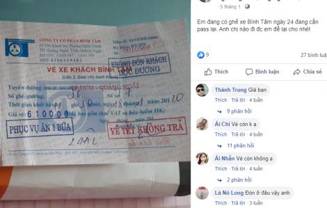 Nhiều người dân ở Quảng Ngãi 'khóc ròng' vì mua phải vé xe giả: Một đối tượng bị xử lý