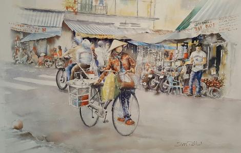 Sài Gòn qua tranh vẽ của một họa sĩ Pháp