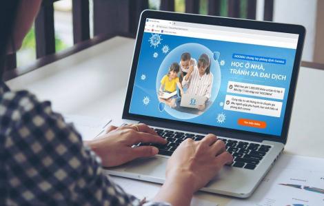 Nhiều trường cho học sinh học trực tuyến trong thời gian nghỉ phòng bệnh