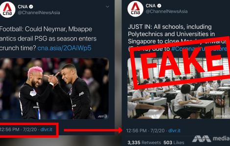 CNA gỡ tweet giả thông báo đóng cửa trường học do dịch coronavirus