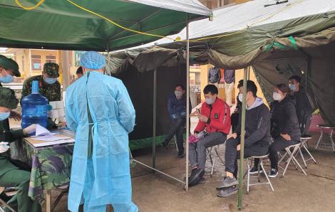 Điểm cách ly thứ 2 tại Lạng Sơn tiếp nhận 47 công dân trở về từ Trung Quốc