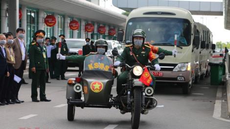 Diễn tập đưa công dân Việt Nam từ Trung Quốc trở về