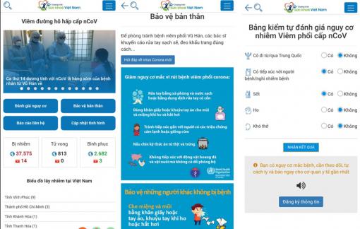 Bộ Y tế triển khai app cho người dân tự đánh giá nguy cơ nhiễm nCoV