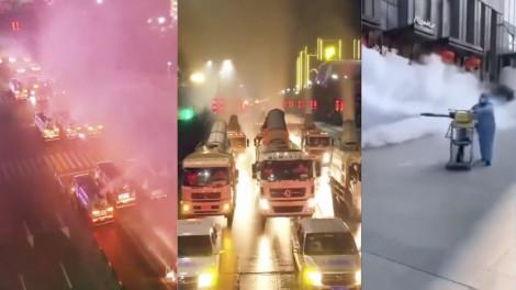 Clip: Khử trùng toàn bộ thành phố Vũ Hán