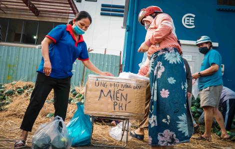 Dân Sài Gòn phát miễn phí gần 13 tấn dưa hấu