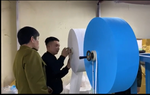 Phát hiện cơ sở làm khẩu trang bằng giấy vệ sinh