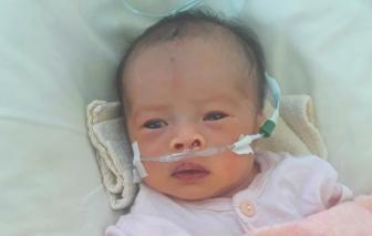 Bé sơ sinh bị bệnh tim bẩm sinh nặng, mong được cứu