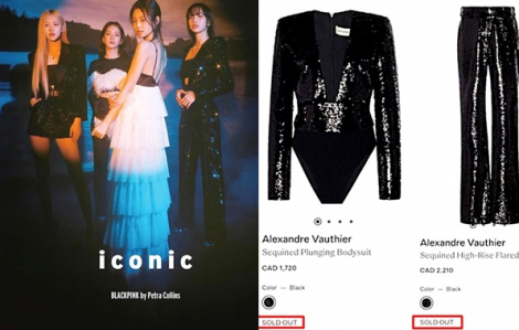 Trang phục Lisa diện 'cháy hàng' sau 9 giờ xuất hiện trên tạp chí