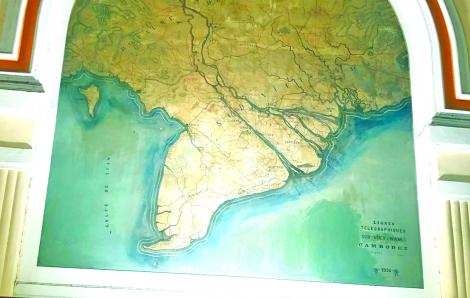 Vì sao đảo Côn Sơn 'biến mất' trên bản đồ cổ ở Bưu điện TPHCM?