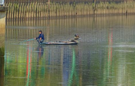 Truy quét, xử lý những người tận diệt cá trên các dòng kênh ở Sài Gòn