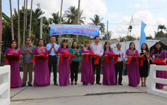 Vietbank khánh thành cầu giao thông nông thôn tại xã Kế Thành, tỉnh Sóc Trăng