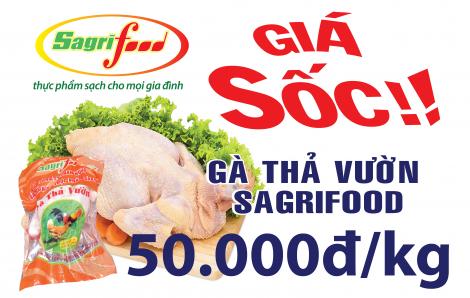 Thịt gà thả vườn Sagrifood 50.000 đồng/kg