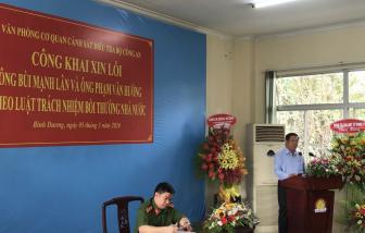Bộ Công an tổ chức xin lỗi công khai 2 doanh nhân trong vụ án Năm Cam