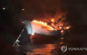 2 thuyền viên Hà Tĩnh mất tích trong vụ cháy tàu cá ở Hàn Quốc