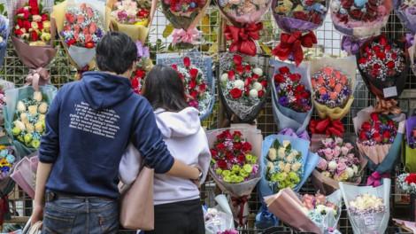 Người đàn bà bán hoa hồng