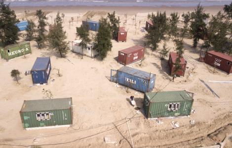 Vụ doanh nghiệp tự ý đặt 130 thùng container trong rừng phòng hộ: chỉ phạt 70 triệu đồng rồi cho phép điều chỉnh dự án