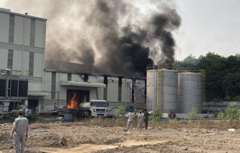 Cháy lớn trong khu công nghiệp Nam Đồng Phú, Bình Phước