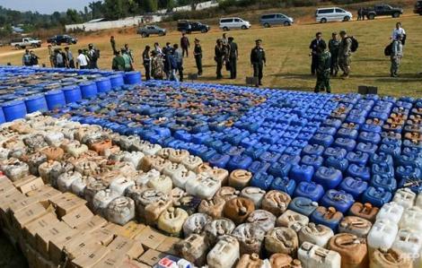 Myanmar triệt phá ba nhà máy, thu giữ số ma túy trị giá hơn 100 triệu USD