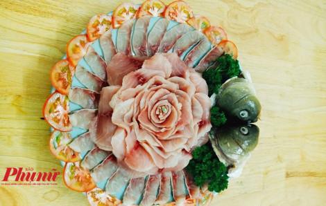 Lẩu nấm cá chép giòn độc đáo và cách xếp phi lê cá đẹp như nhà hàng