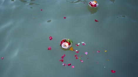 Ký ức buồn về thảm màu trên mặt nước