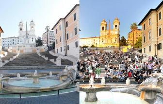 Những khung hình đối lập đến khó tin của Ý trước và sau khi phong tỏa