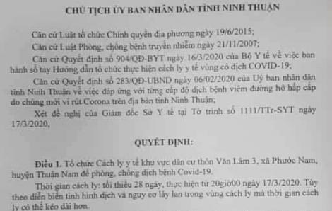 Cách ly thôn Văn Lâm 3 do có nhiều người tiếp xúc bệnh nhân thứ 61