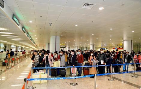 Cảng hàng không Nội Bài sẽ đón 2.585 khách trong hôm nay